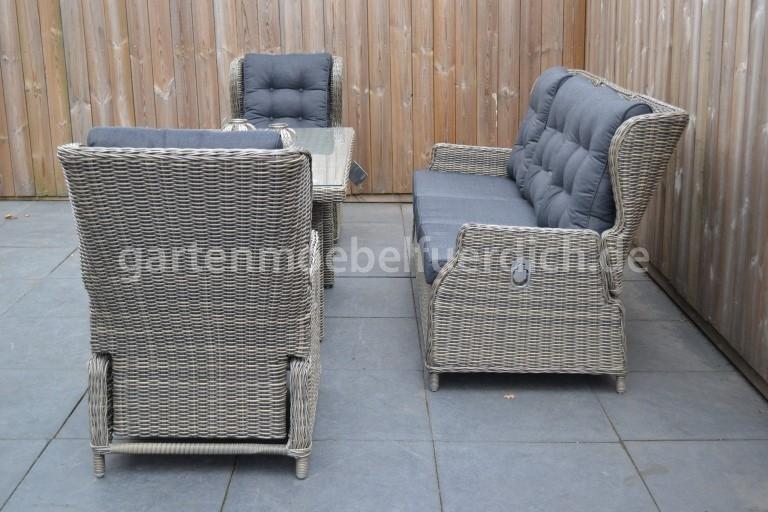 valencia verstellbares dining lounge set 3er mit esstisch sandgrau meliert garten m bel f r dich. Black Bedroom Furniture Sets. Home Design Ideas