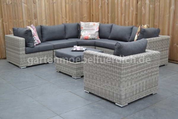 Alabama Loungeset Big Corner Natural Grey