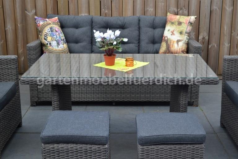 dakota dining lounge set 3er mit esstisch und 2 hocker. Black Bedroom Furniture Sets. Home Design Ideas