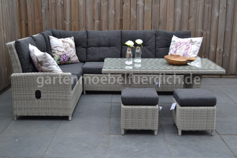 Maryland verstellbares Dining Lounge Set, Ecke mit ...