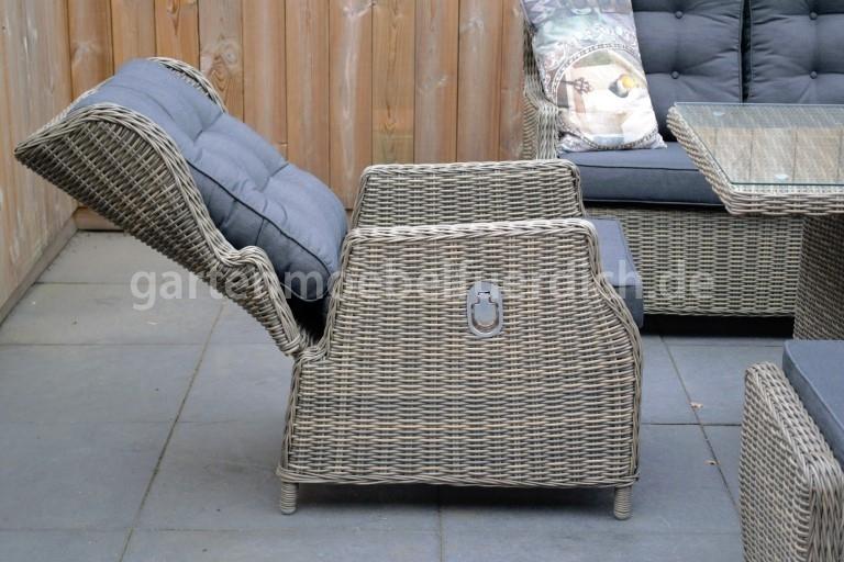 valencia verstellbares dining lounge set 3er mit esstisch. Black Bedroom Furniture Sets. Home Design Ideas