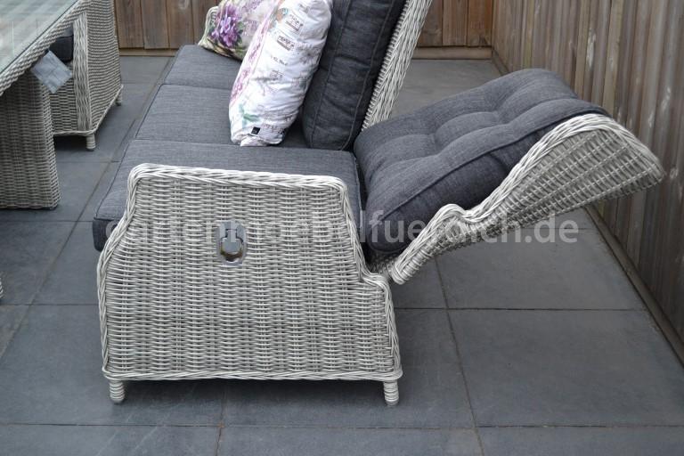 valencia verstellbare lounge 3 sitzer sofa. Black Bedroom Furniture Sets. Home Design Ideas