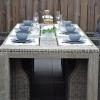 Meriba Tisch Antique Grey mit 6 Valencia Verstellbaren Dining Stühlen Kobo Grey 5