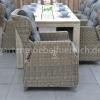Meriba Tisch Antique Grey mit 6 Valencia Verstellbaren Dining Stühlen Kobo Grey 6
