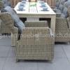 Meriba Tisch Antique Grey mit 6 Valencia Verstellbaren Dining Stühlen Kobo Grey 7