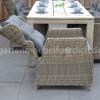 Meriba Tisch Antique Grey mit 6 Valencia Verstellbaren Dining Stühlen Kobo Grey 8