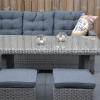 Frontera Loungeset Dark Grey mit hohem Tisch und Hockern 5