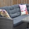 Frontera Loungeset Dark Grey mit hohem Tisch und Hockern 6