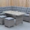 Frontera Loungeset Dark Grey mit hohem Tisch und Hockern 8