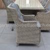 Bologna Tisch mit 6 Perth Dining Stühlen Kobo Grey 7
