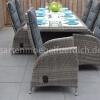 Bologna Tisch mit 6 Bologna Verstellbare Geflecht-Stühle 6