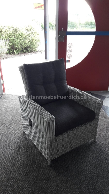 maryland verstellbarer lounge sessel hellgrau meliert garten m bel f r dich. Black Bedroom Furniture Sets. Home Design Ideas