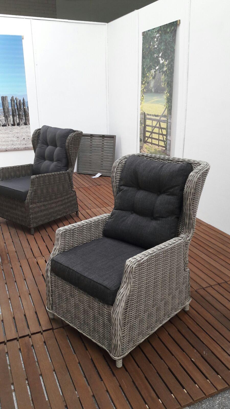 valencia verstellbarer lounge sessel hellgrau meliert garten m bel f r dich. Black Bedroom Furniture Sets. Home Design Ideas