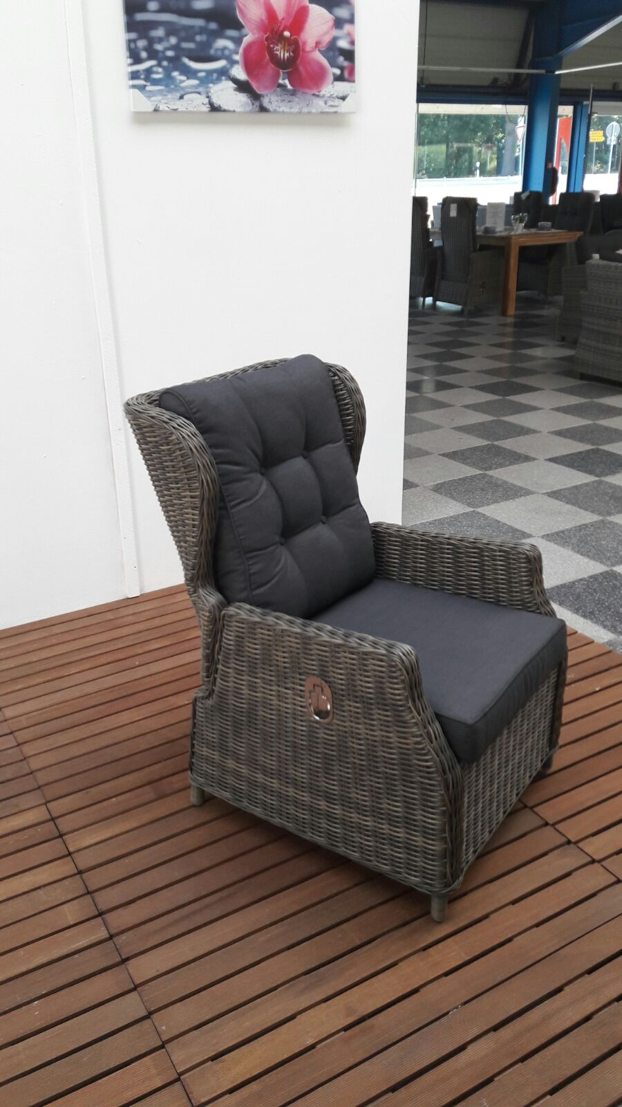verstellbare lounge sessel valencia sandgrau meliert garten m bel f r dich. Black Bedroom Furniture Sets. Home Design Ideas