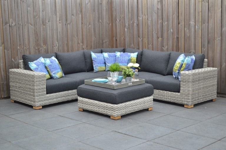Michigan Loungeset Big Corner Natural Grey 4