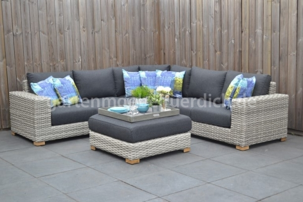 Michigan Loungeset Big Corner Natural Grey