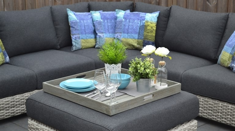 Michigan Loungeset Big Corner Natural Grey 8
