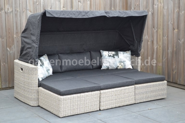 Toscane Sonnenbet Rattan Mixed Brown